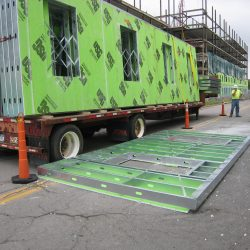 light gauge steel wall panels on a truck