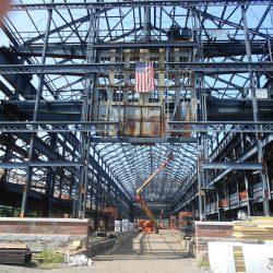 shipyard under construction using duraframe's light gauge steel trusses