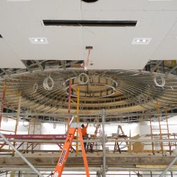 curved light gauge steel framing at saks 5th