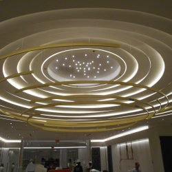 prefabricated curved ceiling soffit inside saks 5th