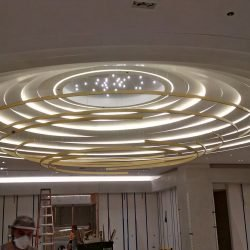 curved interior soffit at saks 5th in new york city