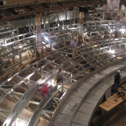curved light gauge steel theater framing