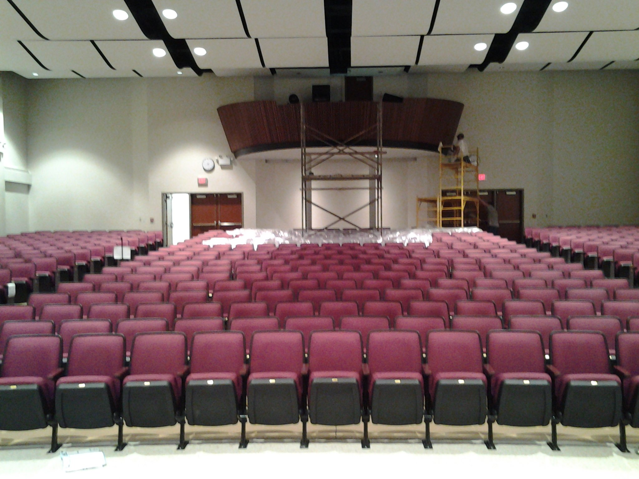 light gauge auditorium and theater framing with curved ceiling clouds