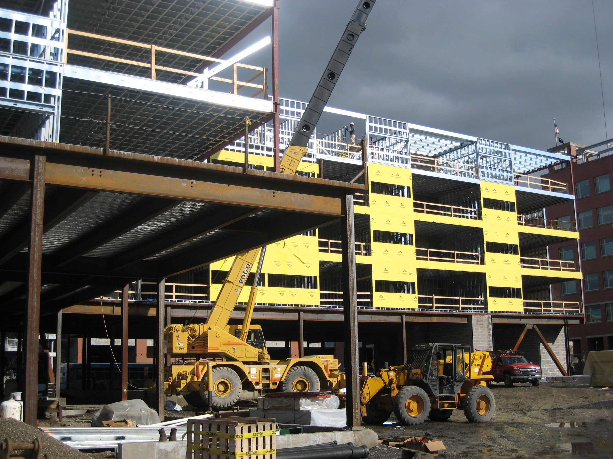 construction of cayuga green student housing facility