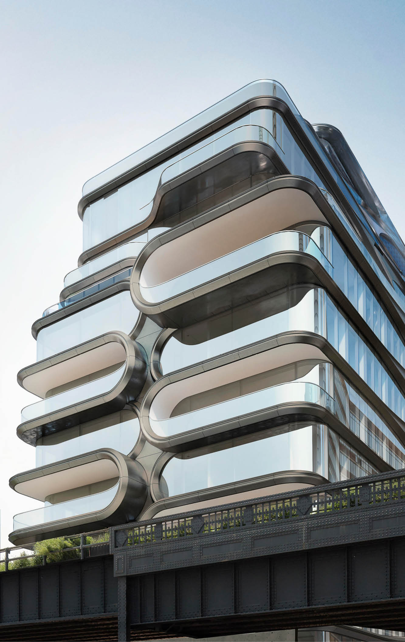 curved facade on luxury apartment building