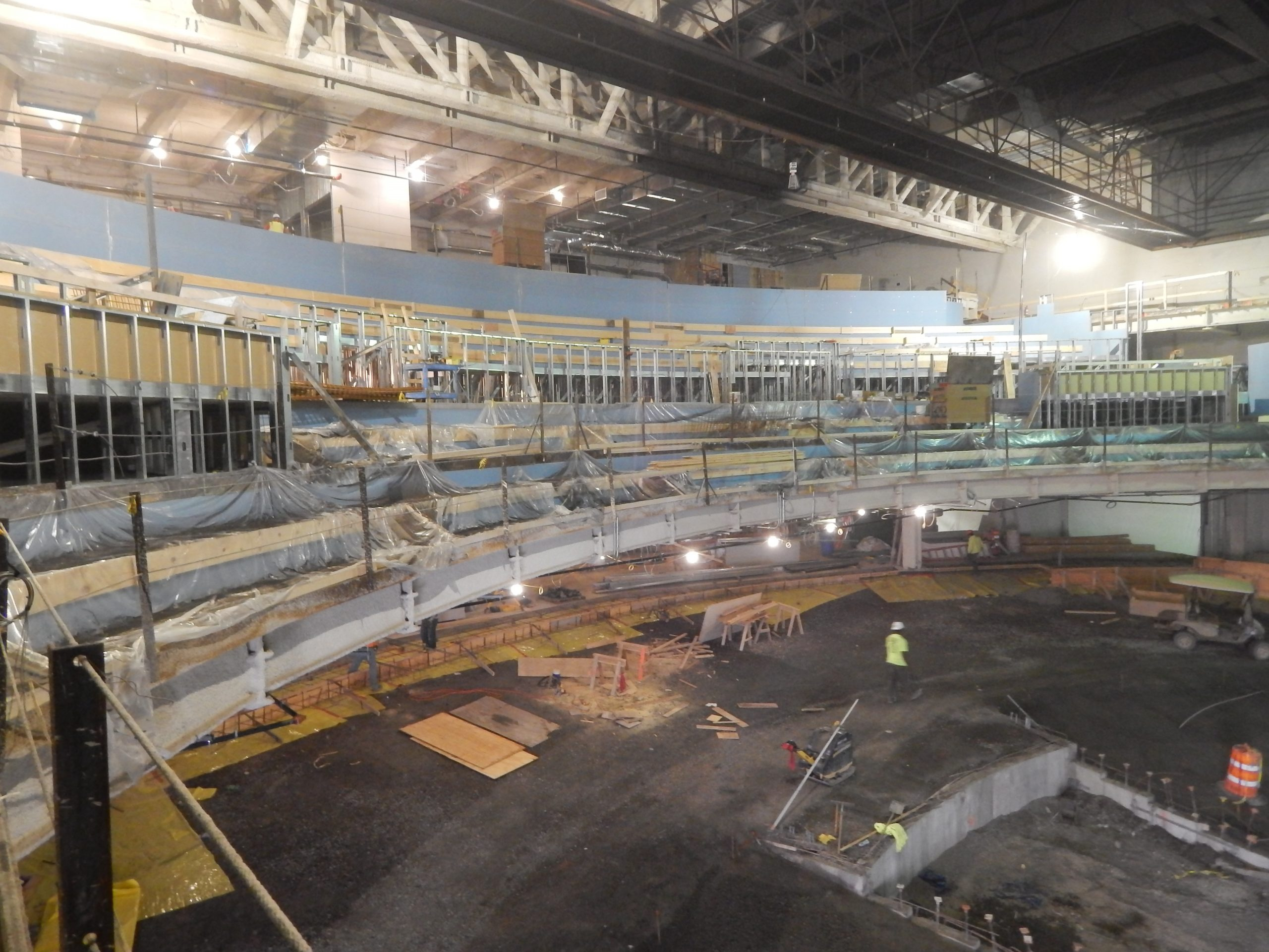 prefabricated curved steel theater framing