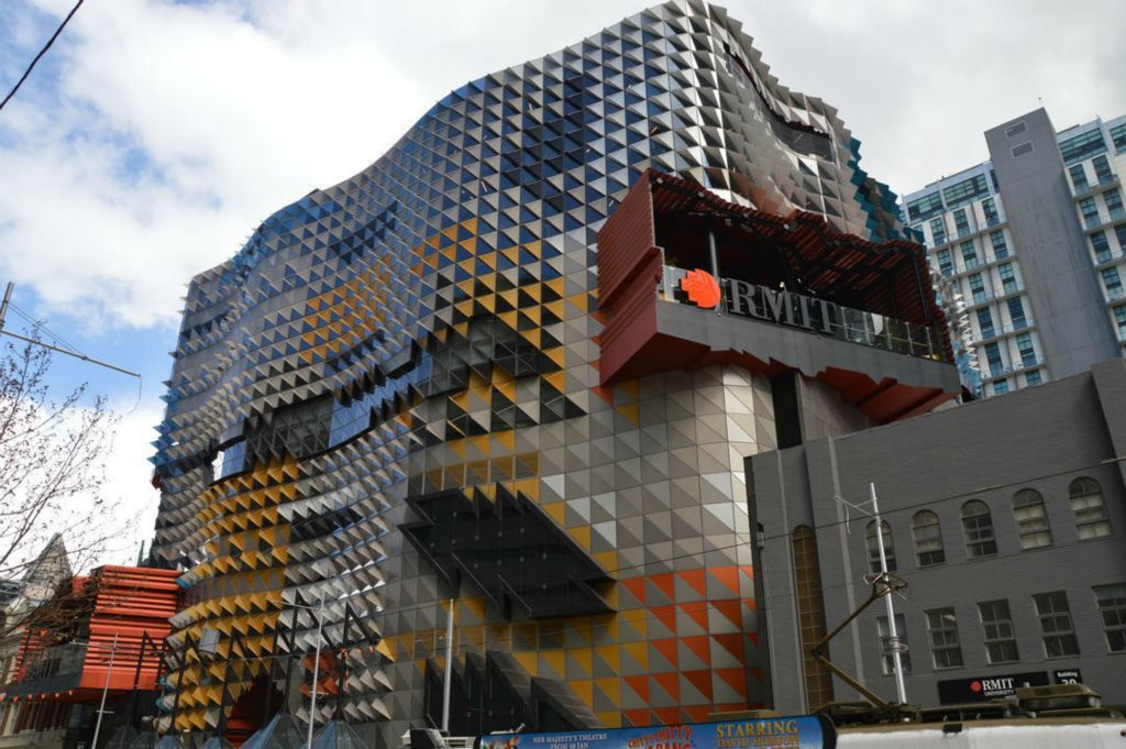patterned steel facade prefabricated by duraframe