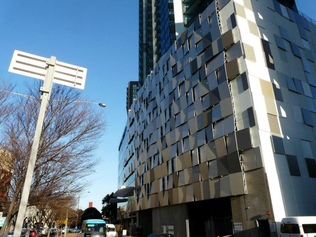 exterior facade built using steel panels