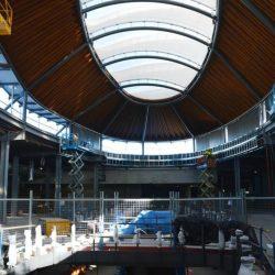 Radiused ceiling