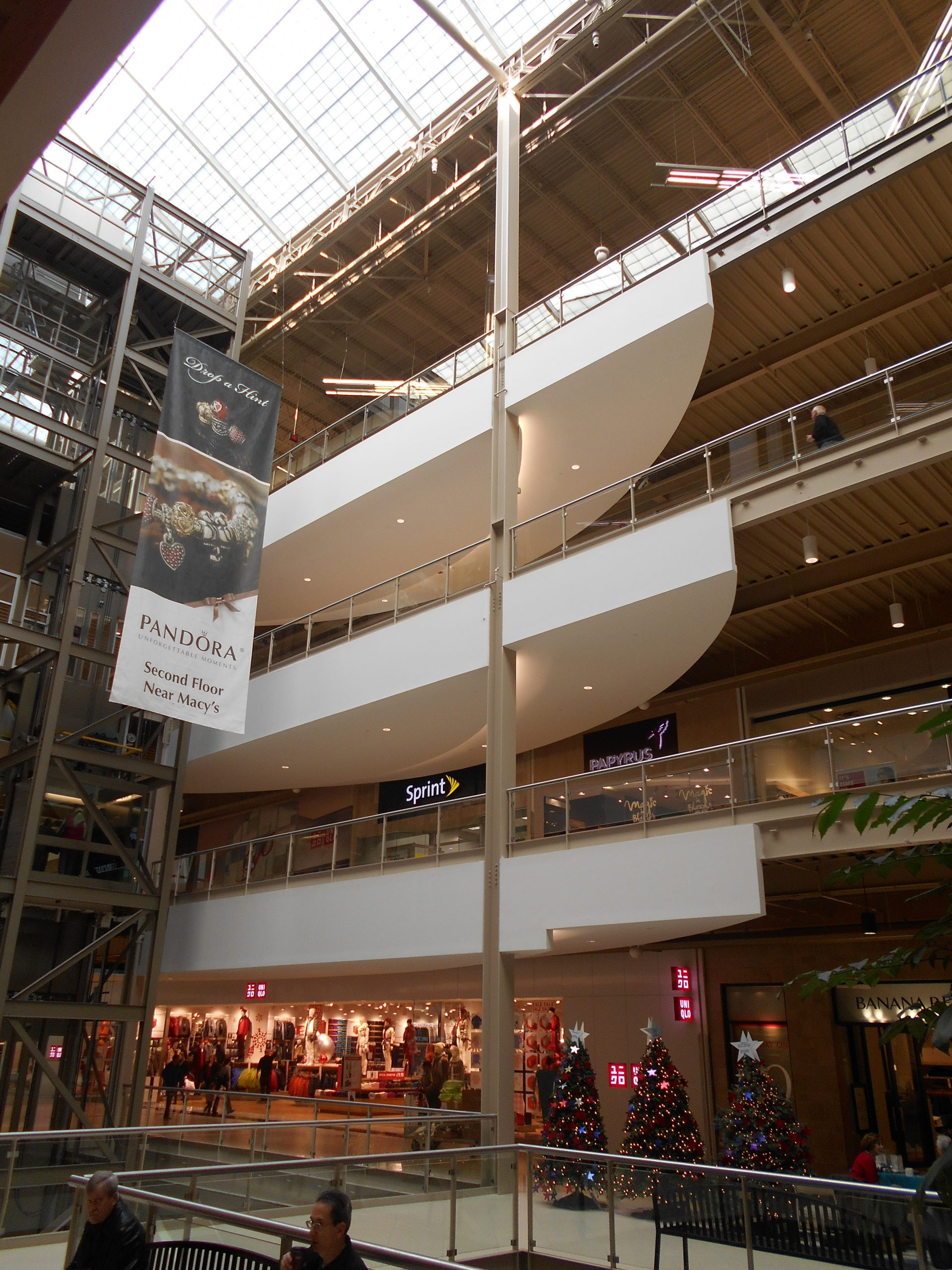 prefabricated light gauge metal interior soffits at palisades mall
