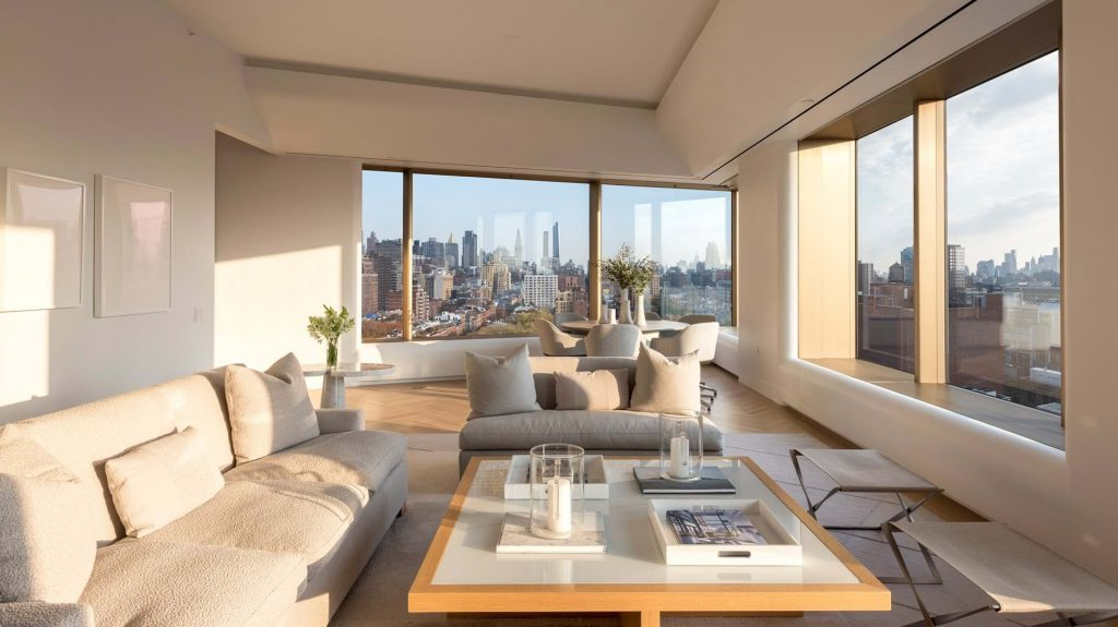 luxury living room at 551 west 21st street