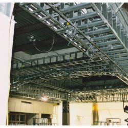 steel architectural framing at crossgates mall