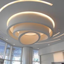 modern ceiling soffit inside long island plastic surgery