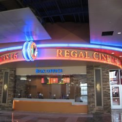 empty regal cinemas box office at walden galleria
