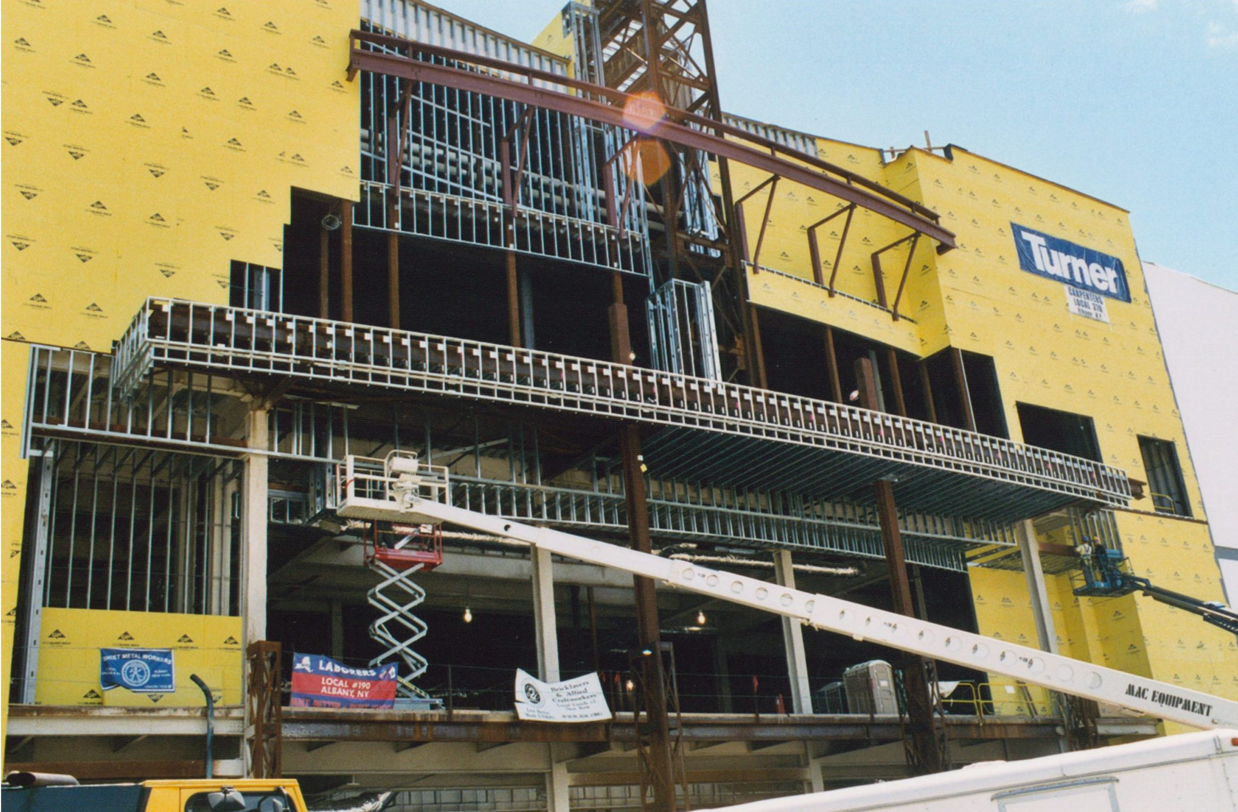 steel architectural framing for regal cinema at crossgates mall