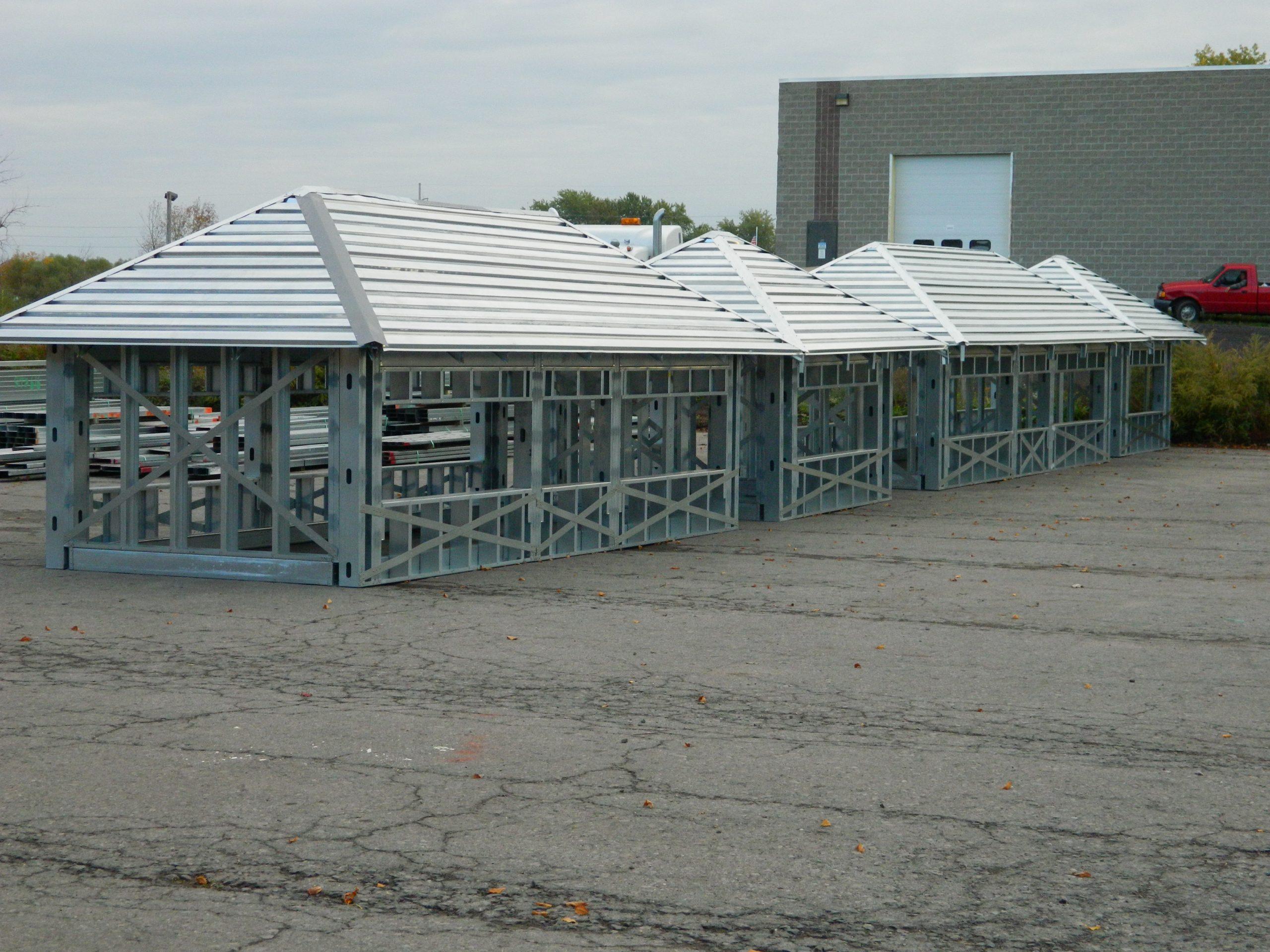 steel framed trusses for dickinson dorms student housing