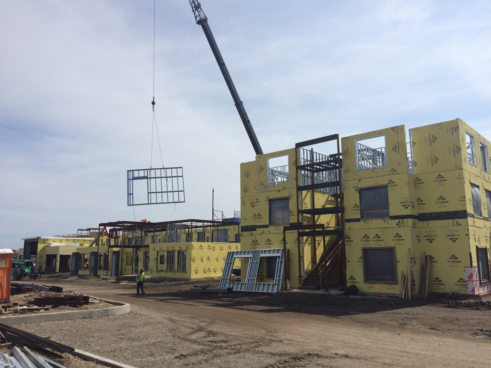 prefabricated wall panels for marriott hotel in garden city