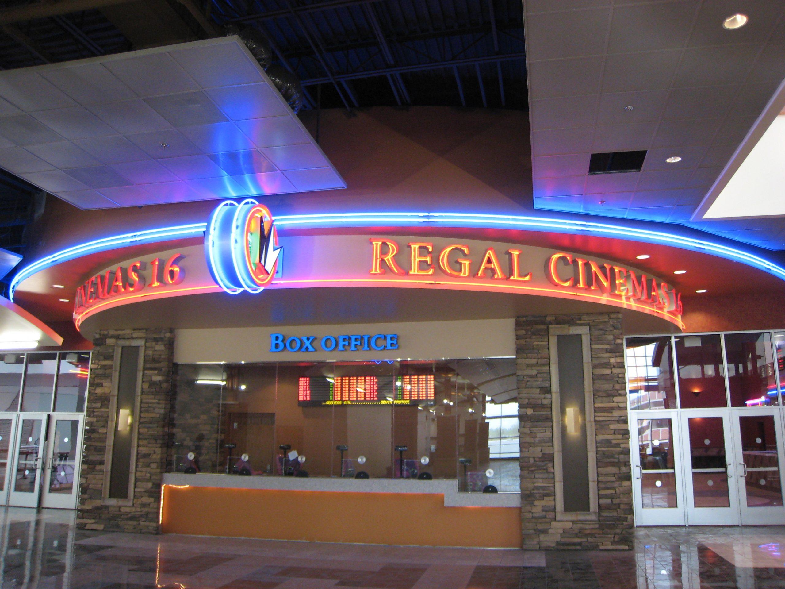 empty regal cinemas box office at walden galleria