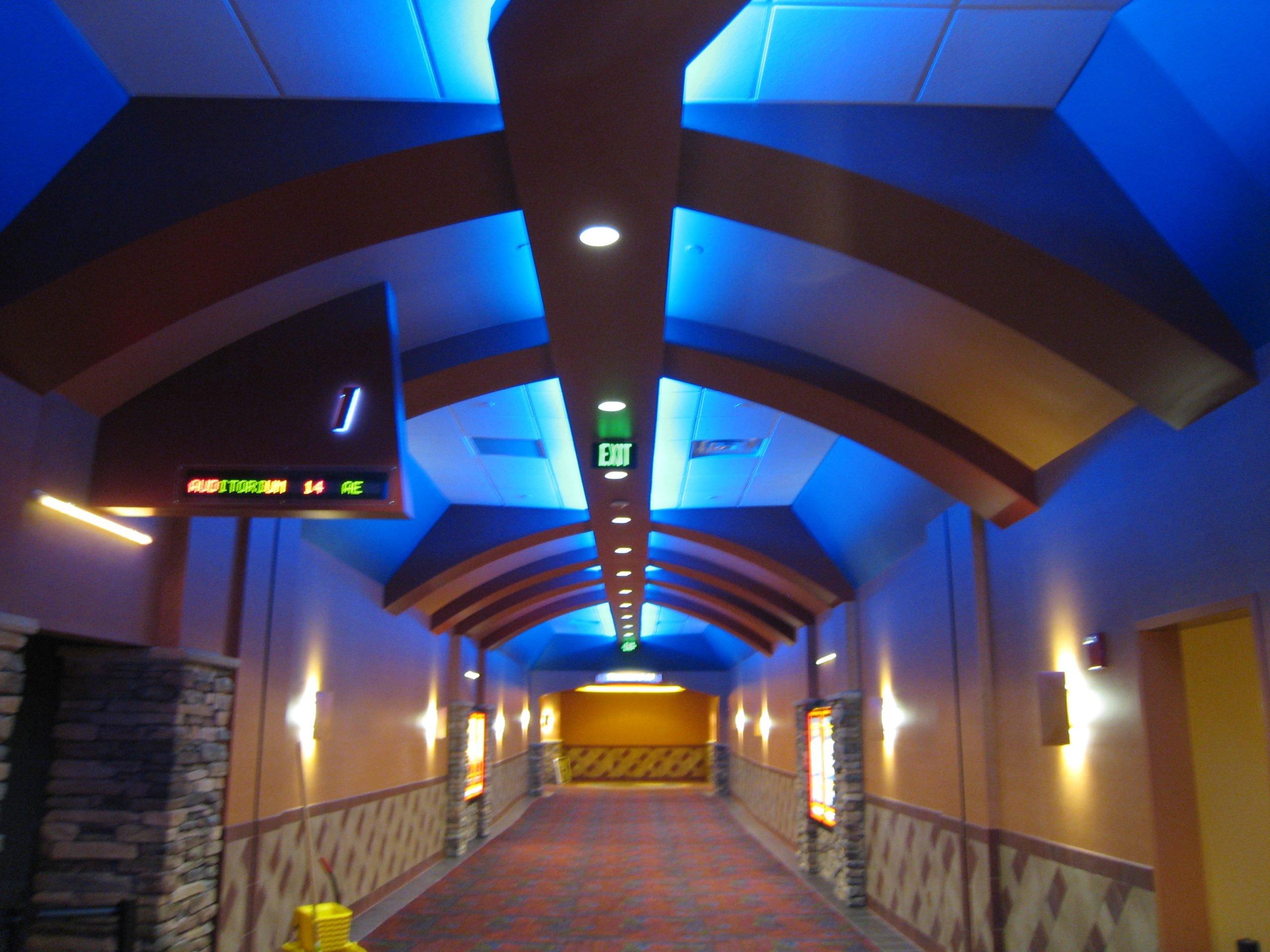 radiused steel ceiling soffits prefabricated by duraframe