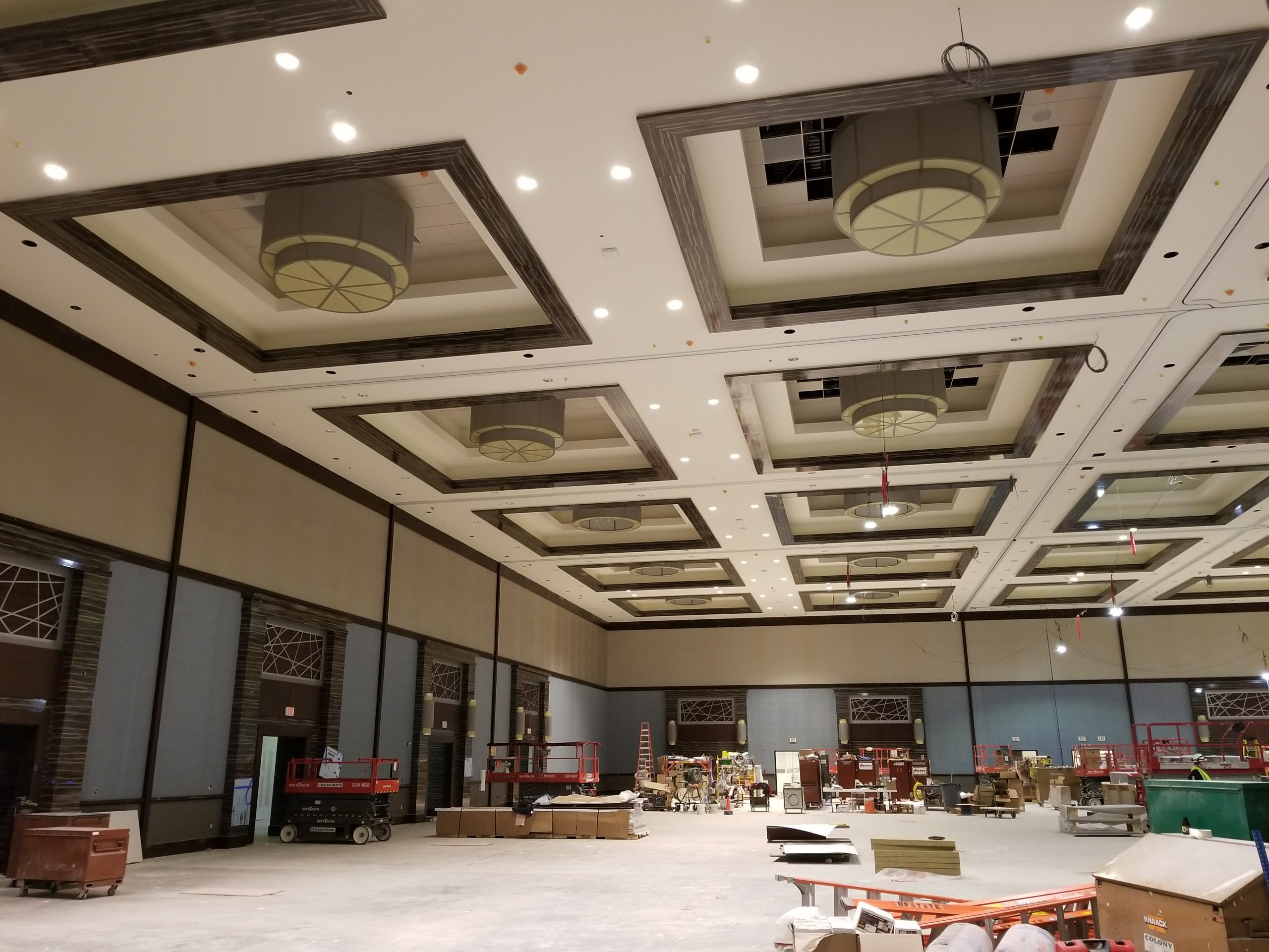 light gauge steel framed ceiling soffits at the resorts world casino