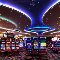 prefabricated steel ceiling at the resorts world casino