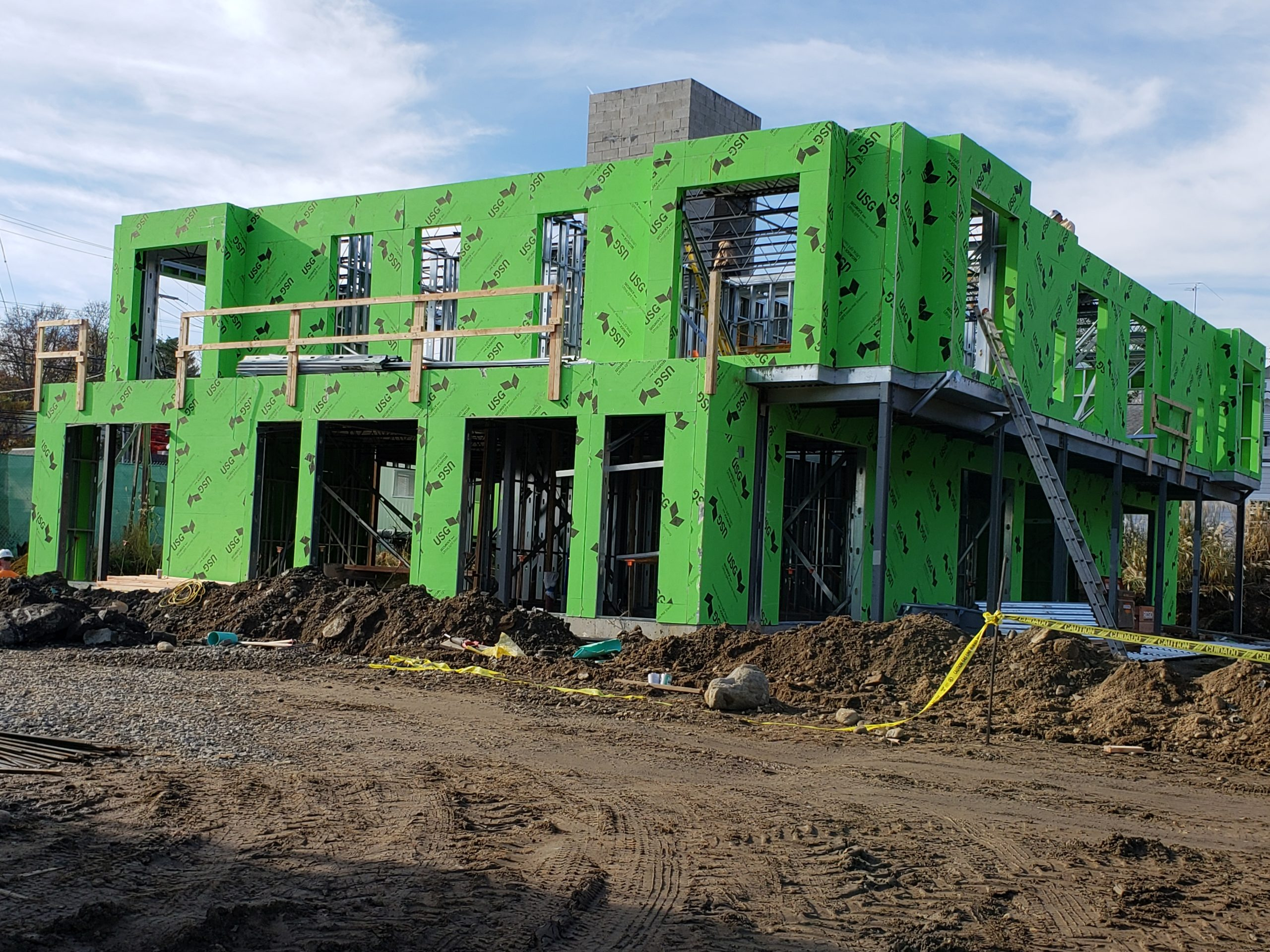 prefabricated wall panels for westporter luxury townhomes