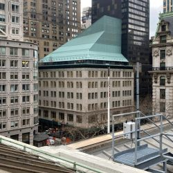 new york public library with completed light gauge steel rootfop addition