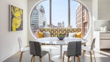 dining room at 520 west 28th street luxury apartment building