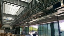 curved interior soffit framed with light gauge steel